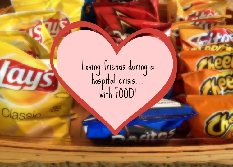 """Loving friends during a hospital crisis...with food"" from ServingMyBFF.com"